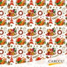 OWN 40g Packing paper, ChristmasToys, White, 75 cm 10 m/roll