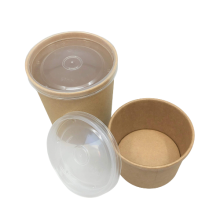 Eco biodegradable soup cups with pp lid