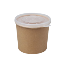 Eco kraft soup cup with pp lid