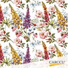 Sonnet design white flower packing paper
