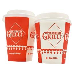 Pohjanmaan grilli logopainetut kahvikupit